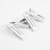 Los clips de aluminio retros Foto de archivo