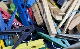 Los clothespins Imagen de archivo libre de regalías