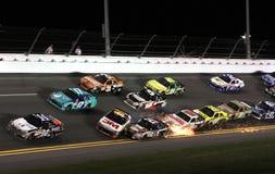 Los coches arruinan en Daytona Foto de archivo libre de regalías