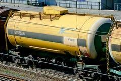 Los coches del tanque ferroviarios Fotografía de archivo libre de regalías