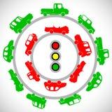 Los coches en los caminos Imágenes de archivo libres de regalías