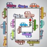 Los coches en los caminos Fotografía de archivo