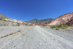 Los Colorados in Purmamarca, Jujuy, Argentina. Royalty Free Stock Photos