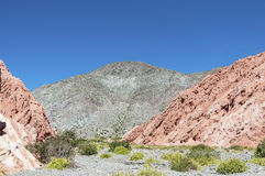Los Colorados in Purmamarca, Jujuy, Argentina. Royalty Free Stock Photography