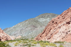 Los Colorados in Purmamarca, Jujuy, Argentina. Stock Photography
