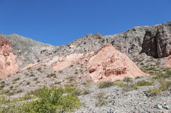 Los Colorados in Purmamarca, Jujuy, Argentina. Royalty Free Stock Photo