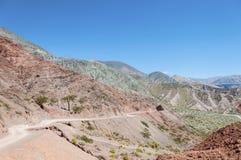 Los Colorados w Purmamarca, Jujuy, Argentyna. Fotografia Stock