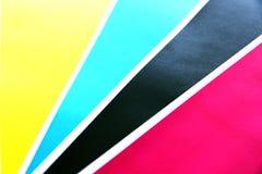 Los colores cubren espolones son la diagonal. Foto de archivo libre de regalías