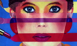 Los colores de componen Foto de archivo libre de regalías