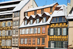 Los colores de Estrasburgo durante invierno Imágenes de archivo libres de regalías