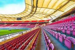 Los colores de Mercedes Benz Arena Imagen de archivo