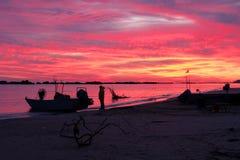 Los colores de un nuevo día Francavilla al Mare ch Italia imagen de archivo libre de regalías
