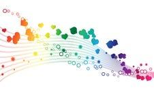 Los colores del arco iris en una onda - Vector la imagen libre illustration