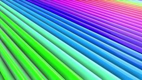 Los colores del arco iris resumen las rayas, fondo en 4k con la pintura brillante brillante Animación inconsútil lisa con color d metrajes
