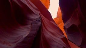 Los colores del barranco del antílope en Arizona - fotografía del viaje almacen de metraje de vídeo