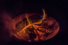 Los colores del fuego fotos de archivo libres de regalías