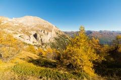 Los colores del otoño en las montañas Fotos de archivo