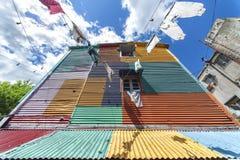 Los colores mágicos de Caminito fotografía de archivo libre de regalías