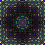 Los colores retros inconsútiles diseñan el modelo de lunares de los círculos libre illustration