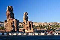 Los colosos de Memnon Foto de archivo libre de regalías