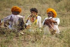 Los comerciantes del camello de pushkar Foto de archivo libre de regalías
