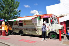 Los Compadres food truck Stock Photography