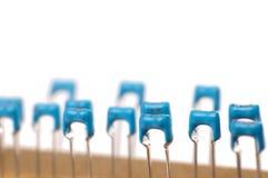 Los componentes electrónicos se cierran para arriba o macro Imágenes de archivo libres de regalías