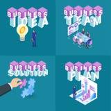 Los conceptos del negocio fijaron 01 ilustración del vector