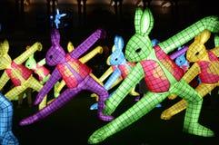 Los conejos del zodiaco chino Foto de archivo libre de regalías