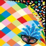 Los confetis del carnaval de la máscara del arlequín van de fiesta el fondo libre illustration