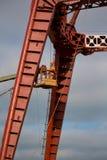 Los constructores están trabajando en la mucha altitud Imagen de archivo libre de regalías