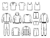 Los contornos del varón se divierten estilo ilustración del vector