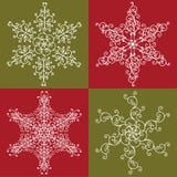 Los copos de nieve fijaron 1 Imagen de archivo libre de regalías