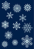 Los copos de nieve fijaron 2 Stock de ilustración
