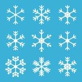 Los copos de nieve resumidos lindos para el invierno y la Navidad diseñan Fotografía de archivo libre de regalías