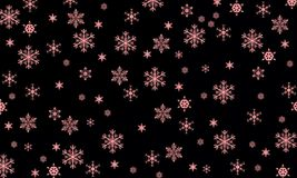 Los copos de nieve son milagro Foto de archivo libre de regalías