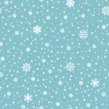 Los copos de nieve vector el modelo inconsútil Contexto de la repetición de la Navidad de las nevadas ilustración del vector