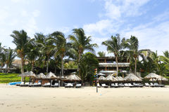 Los Corales hotel, Mancora, Peru stock afbeelding