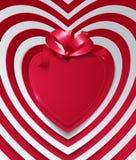 Los corazones abstractos cortaron del papel con la cinta libre illustration