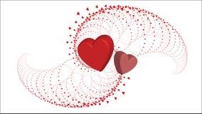Los corazones aman - día del ` s de la tarjeta del día de San Valentín - el ejemplo - vector Fotografía de archivo