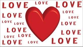 Los corazones aman - día del ` s de la tarjeta del día de San Valentín - el ejemplo - vector Imagen de archivo