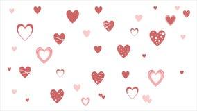 Los corazones aman - día del ` s de la tarjeta del día de San Valentín - el ejemplo - vector Imagen de archivo libre de regalías
