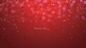 Los corazones aman - fondo del día del ` s de la tarjeta del día de San Valentín - el ejemplo Fotografía de archivo libre de regalías