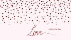 Los corazones aman - fondo del día del ` s de la tarjeta del día de San Valentín - el ejemplo - vector Fotos de archivo libres de regalías