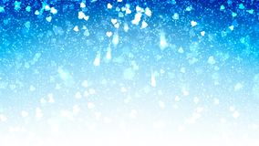 Los corazones blancos aparecen en el fondo brillante azul Animación del lazo del extracto del día de fiesta del día de tarjetas d ilustración del vector