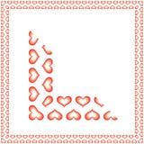 Los corazones confinan desplazamiento Imagen de archivo libre de regalías