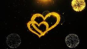 Los corazones día de San Valentín feliz del amor desean la tarjeta de felicitaciones, invitación, celebración stock de ilustración