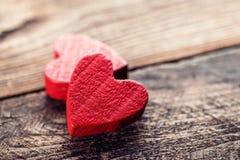 Los corazones de la tarjeta del día de San Valentín Imagen de archivo