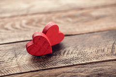 Los corazones de la tarjeta del día de San Valentín Fotografía de archivo