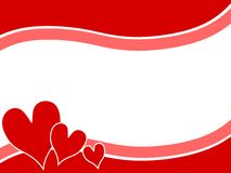 Los corazones de la tarjeta del día de San Valentín de Swoosh confinan el fondo 2 Imagenes de archivo